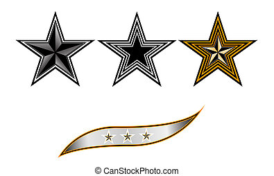 stars and strip - The figure shows the three stars and a...