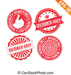 Stamp sticker member only collection  - Vector illustration - EPS10