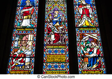 Stained Glass WIndow - Stained glass window in Ross Uniting...