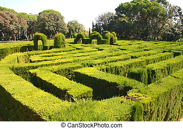 labyrinth - Park labyrinth in barcelona - Spain