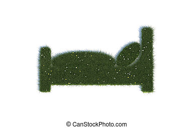Bed Series Symbols out of realistic Grass