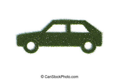 Car Series Symbols out of realistic Grass