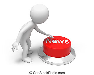 Find news  - A man is pushing the button