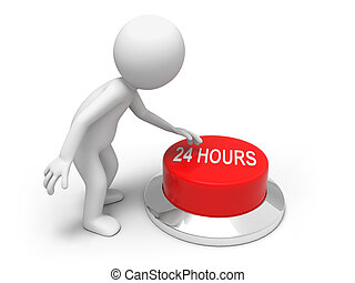 24 hours - A man is pushing the button