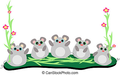 Five Mice in a Row Vector