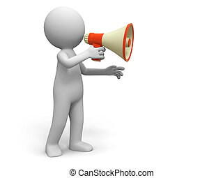 Promotion - A people in using the megaphone