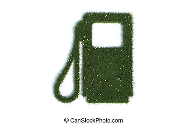 Petrol Pump Symbols out of realistic Grass