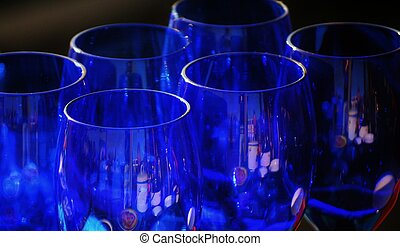 Cobalt blue - Close up of cool cobalt blue glasses
