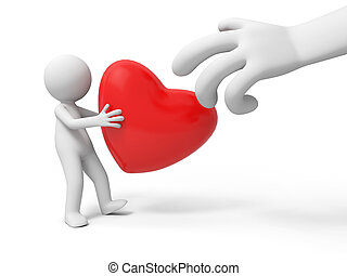 heart,love - A people is holding a heart