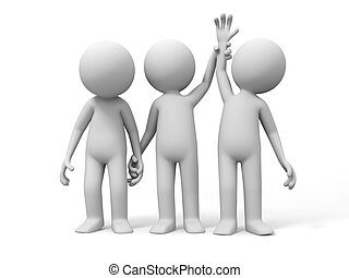 Winner and loser - the referee raise the winner%u2019s hand