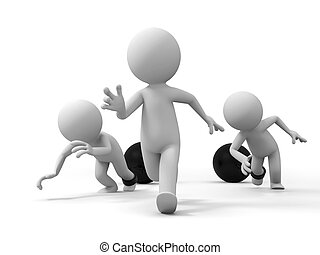 race,competition  - three people in the race