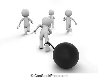 race,competition - Four people in the race