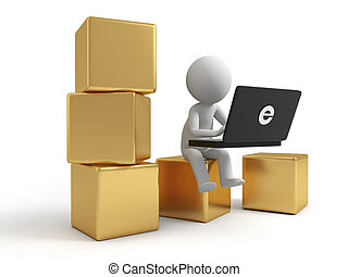 Online trading - A people is to use the computer on several...