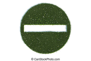 Wrong Direction Series Symbols out of realistic Grass