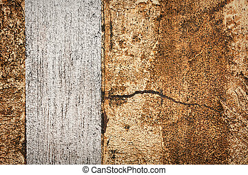 Wall decor texture - Silver with golden bumpy wall stucco...