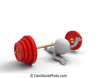 Barbell - Lose,A people was pinned by a barbell