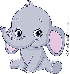 niemowlę, słoń
