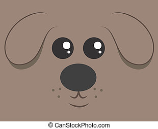 Large Dog Face  - Cartoon dog head filling the space