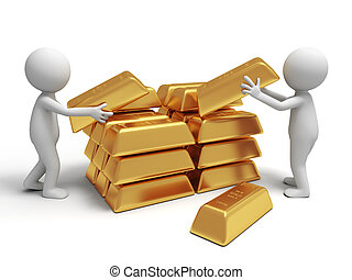 gold brick - Gold,money,two people are carrying some gold...