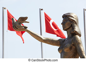Turkish Peace Monument - Monument of Ataturk and Youth,...
