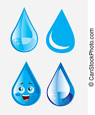 Raindrop icons over white background vector illustration