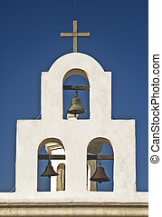 Cross and Bell Tower - This is a cross and bell tower of...