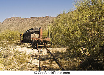 Train Wreck - This is a picture of a vintage train wreck in...
