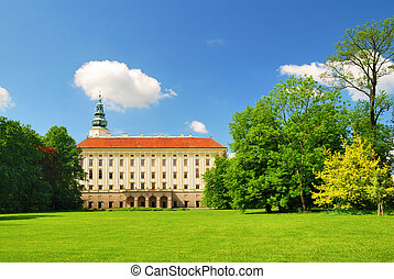 Archbishop chateau in Kromeriz viewed from the surrounding...