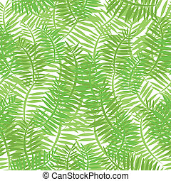 Seamless Green Leaves Background - Illustration of a...