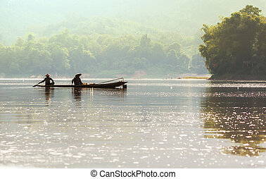 People in Laos - Lao landscapes