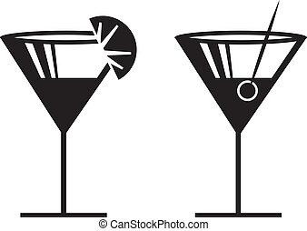Margarita Silhouettes - Margarita or Martini silhouettes...