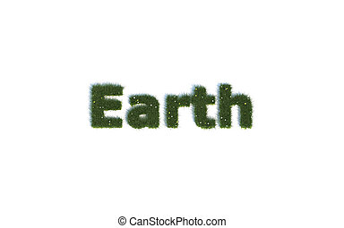 Earth out of realistic Grass