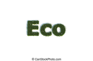 Eco out of realistic Grass