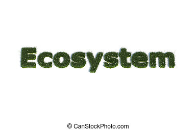 Ecosystem out of realistic Grass