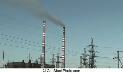 power plant and transmission line