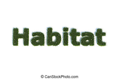 Habitat out of realistic Grass