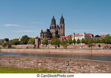 Cathedral of Magdeburg, Germany - Cathedral of Magdeburg at...