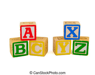 ABC Blocks 2 - Alphabet blocks stacked as ABC and XYZ