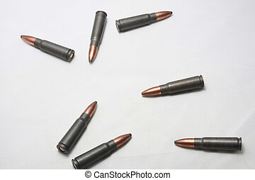 Assualt Rilfe Ammo - Copper coated solid tip bullets used in...