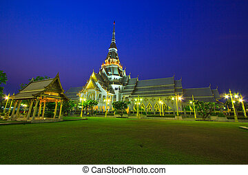 Wat So-thorn Temple in Thailand, in the evening Twilight...