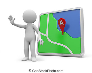 navigator - A 3d person stopping the people, a navigator...