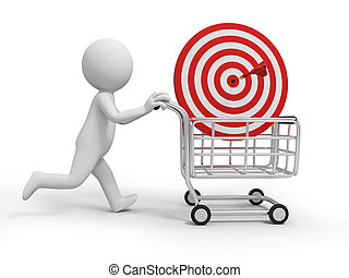 dartboard - A 3d person/ a dartboard in the shopping cart