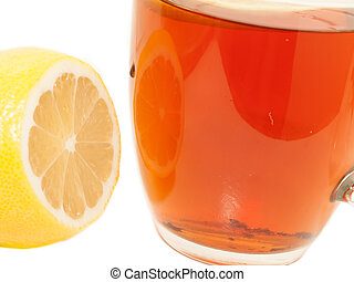tea and lemon. macro