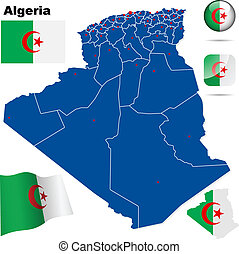 Algeria vector set.