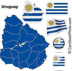 Uruguay vector set.