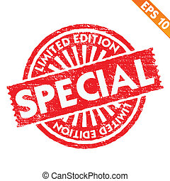 Stamp sticker limited collection  - Vector illustration - EPS10