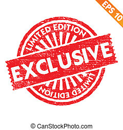Stamp sticker limited collection - Vector illustration -...
