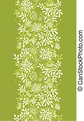 Green underwater plants vertical seamless pattern background border