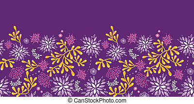 Purple and gold underwater plants horizontal seamless...