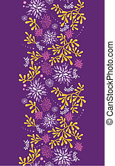 Purple and gold underwater plants vertical seamless pattern...